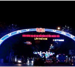 Đường đèn Nha Trang chào mừng Đại hội Đảng 2020